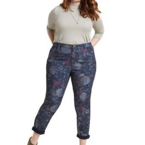 MODCLOTH printed floral skinny jeans 2X